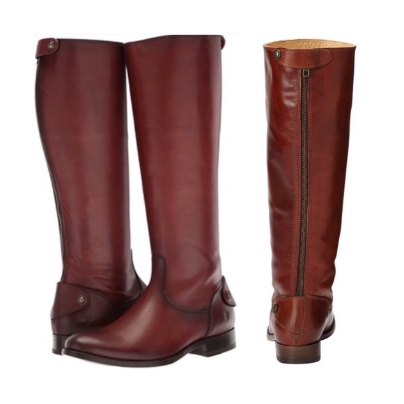 a3360ccb7d6 Frye Shoes - Frye Melissa Button Back Zip boot in cognac